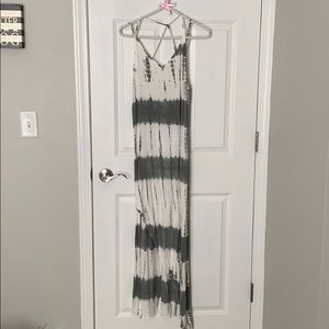 Grey and white tie dye dress